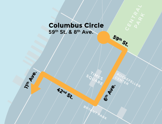 The march route