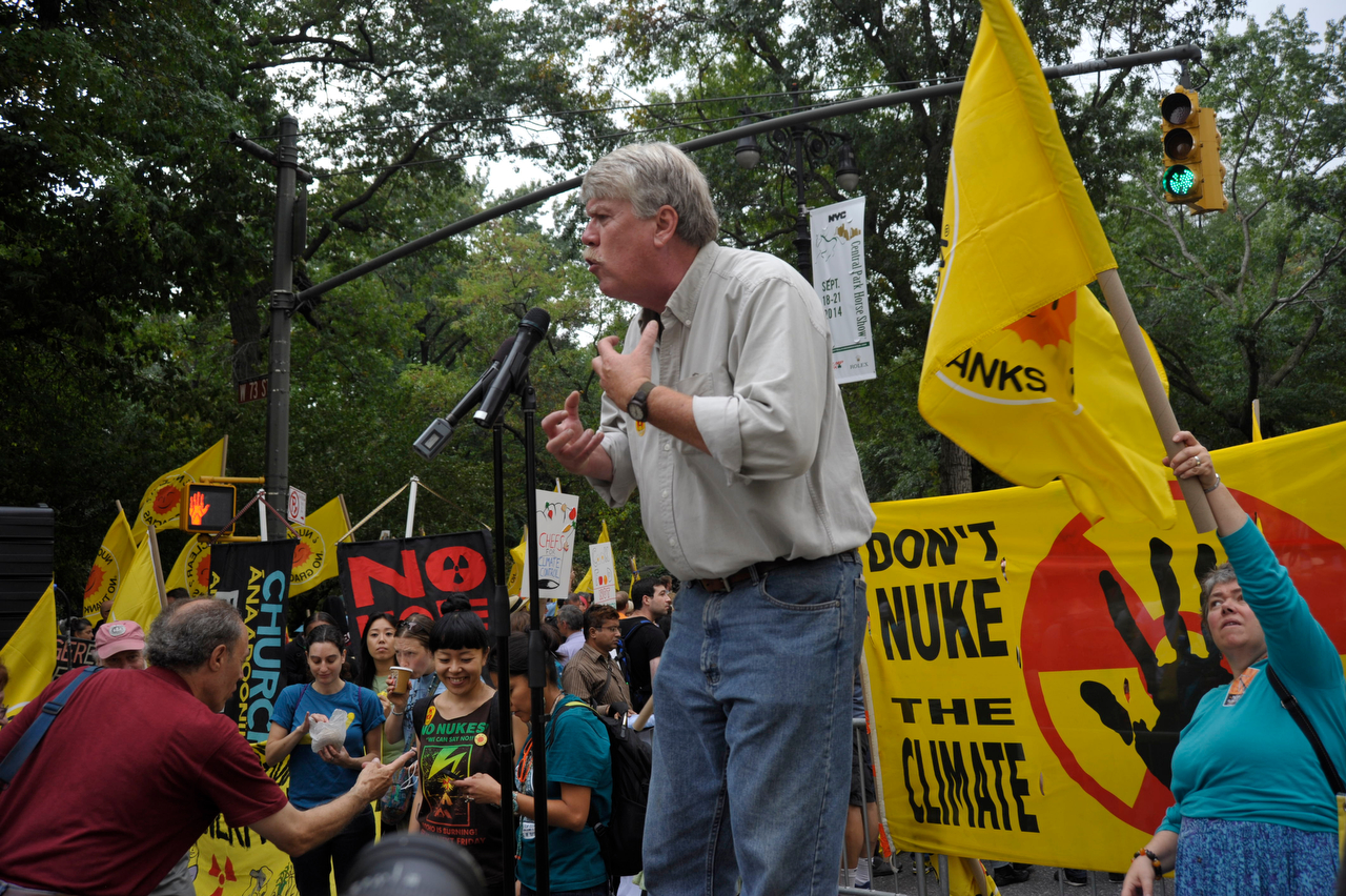 NIRS' Board Chair Chris Williams ended the rally with a rousing call to action.