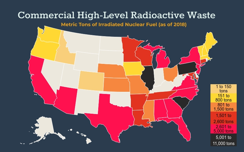 Irradiated fuel map