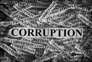 Corruption collage