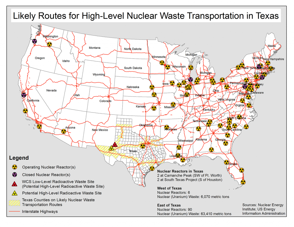Stop Mobile Chernobyl NIRS - Us nuclear waste sites map